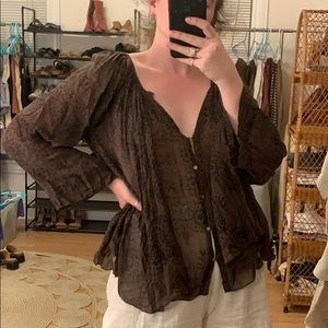Free People One Gauzy Blouse